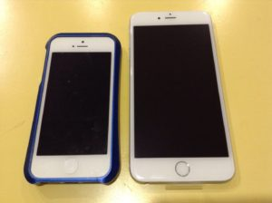 iPhone5とiPhone6plus