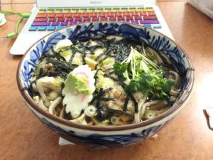 納豆山かけ蕎麦(冷たいの)