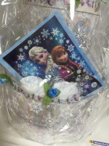 アナ雪のおむつケーキ