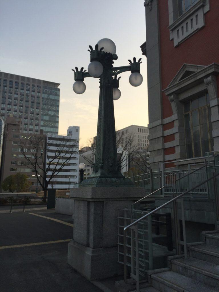 中央公会堂のランプ