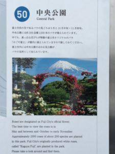 富士中央公園から見た富士山
