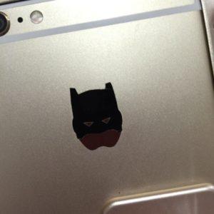 バットマンを剥がしました