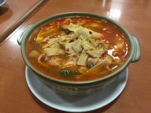 干豆腐の辛いスープ