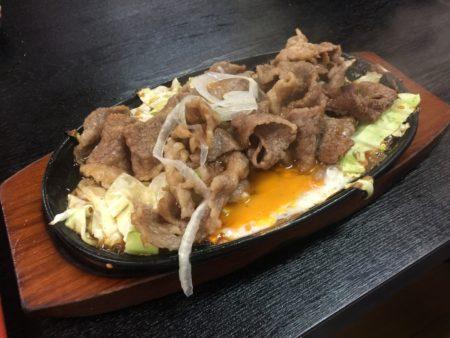 飛騨牛焼肉定食の焼肉分
