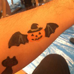 ハロウィンかぼちゃコウモリ