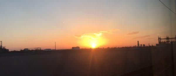 鮮やかな夕焼けに見とれてしまいました