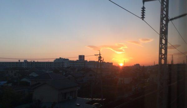 鮮やかな夕焼け