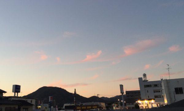 三原で見る夕焼け空