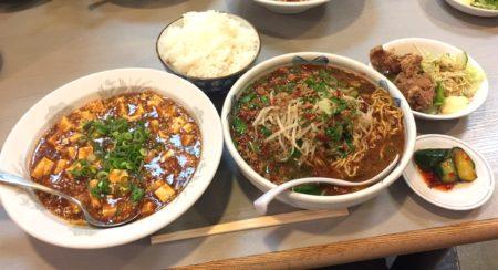 台湾ラーメン定食と麻婆豆腐