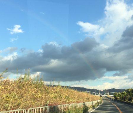 きれいな虹が見えました