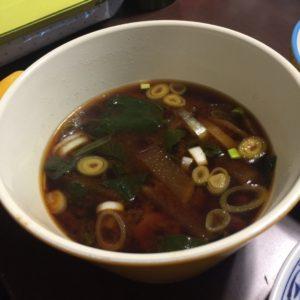 カクトウ豆みそで作ったお味噌汁が絶品でした