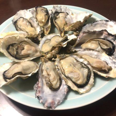 美味しい蒸し牡蠣をいただきました