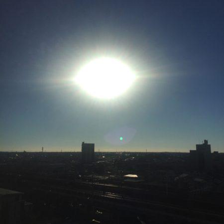 静岡出張最終日の朝も晴天になりました