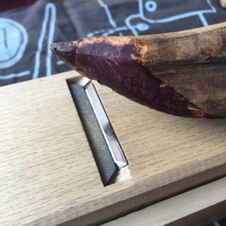 鰹節の削った断面