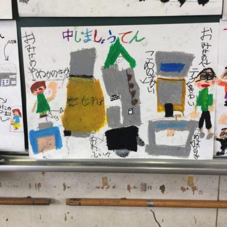 校区探検の発表の作画
