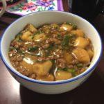 麻婆豆腐ならぬ麻婆麩の丼