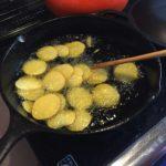 自家製ポテトチップスを作りました
