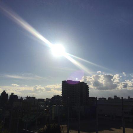 最近の太陽は輝き度が増したような気がします